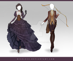 (CLOSED) Adoptable Outfit Auction 114 - 115 by Risoluce