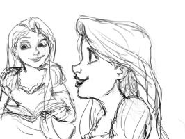 Rapunzel sketch 3 by Atnica