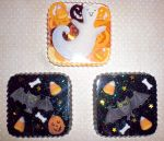Halloween Resin Magnets -Bats and Ghost- by 13anana