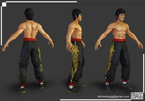 Bruce Lee game character by ebagg