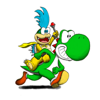 Yoshi and Larry by CriticalHitSam