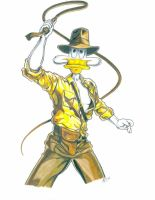 DW Duck as Indiana Jones by DisneyPsycho