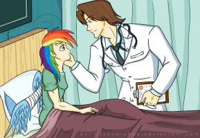 How's my Favorite Patient?- MLPFiM by Hasana-chan