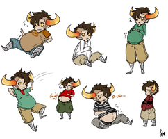 Pudgy Tav sketches by Squidbiscuit