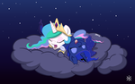 Sleepy Chibi Princesses by itsjaytimestwo
