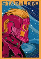 StarLord Guardian of the galaxy by Black-end-White