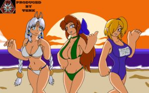 AJ: Swimsuit Dolce, Coda and Soprano by ThEmbrsmntNinjaKitty