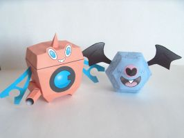 Rotom WM and Woobat by P-M-F