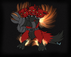FLAMERUS FULLBODY COLOR by  aquatheohiokitty by DEVIOUS-DISCORD-RP