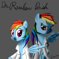 Dr. Rainbow Dash by Camaine
