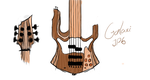 galaxi jp6 Bass Guitar by christopherdepaula