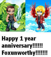 Wow! It is our 1 year anniversary today by BlackCherry1994