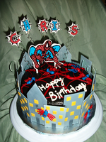 spiderman cake 1 by mystiic143