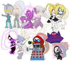 Assorted Chibis - AU Sci Fi by Dragon-FangX