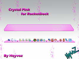 Crystal Pink for RocketDock by Heyvoz