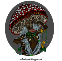 Mushroom Tribe - coloured by vasodelirium