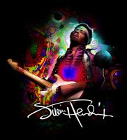 cosmic Jimi hendrix by nightrhino