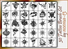 30 Tattoo Brush set 7 by noema-13