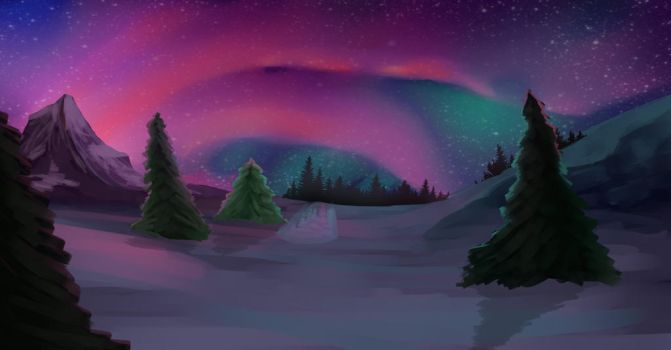 Northern lights by SureFineWhateverr