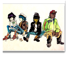 Band Pic by balleticetwatercolor
