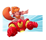 Squirrel Girl and Iron Man by pungang