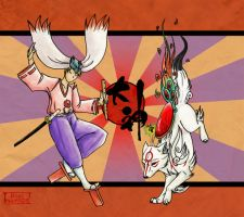 Okami - Warriors by BlueHunter