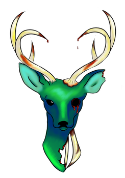 Zombie Deer Tattoo by ToSealOurFate