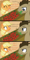 Dr. Whooves and AJ in: Apples Are Rubbish by InkRose98