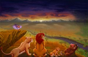 Lion King Sunset by mtcomic