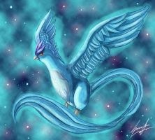 Articuno (Redraw) by MoodySmeargle