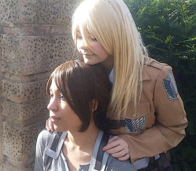 Krista and Ymir by HelaDreams