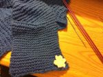 Blue Scarf w/ White Flower by Crazylittleloon