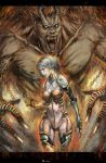 Girl and monster by longai