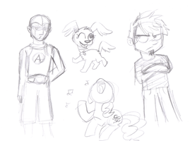 sketch of some fav charters from the hub by XxTOxiCfoX5555551xX