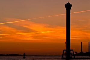 Sunset Silhouette Lighthouse by Bull04