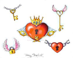 Hearts n' Keys Flash Art by SuperSibataru