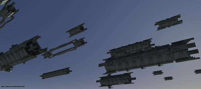 Model Fleet - Another Angle by Empress-Ryzal