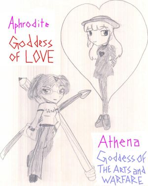 Aphrodite and Athena