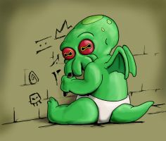 Baby Chthulhu gets into mischief by drakered