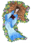 Sleeping maiden coloured by NightFever100