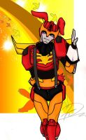 Easter Bunny Rodimus Prime by Crescent-moon-demon