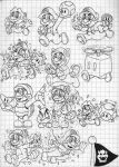 Super Mario 3D Land Power-Ups Doodles (Mario) by SuperLakitu