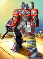 Optimus Prime Colored by Vampiric-Conure