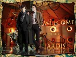Sherlock in the Tardis by Nero749