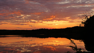 Horn pond sunset june 2013 by Mogrianne