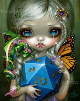 20 Sided Dice Fairy by jasminetoad