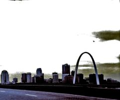 St. Louis HDR from the Poplar Street Bridge by Oultre