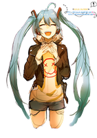 Vocaloid Miku Render'~ by PartyxGlam