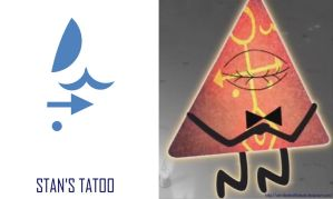 Stan's tatoo and Bill by WitchBehindTheBush