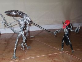 ALIEN VS PREDATOR SCENE in wire by TheWallProducciones